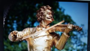 The wonderful Johann Strauss...we won't leave Vienna without playing a waltz...