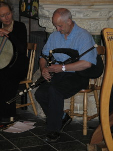 Mickey Dunne not only plays the pipes, but is a well known pipe-maker too