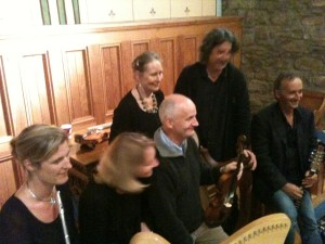 Tale of the Gael, August 2013. Three of the group join Robert and Deirdre for this project