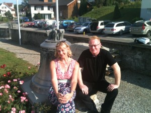 Catherine Rhatigan and Brendan Wade on a break from playing at a wedding recently...