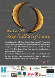 The Yeats 150 Harp Festival of Moons was one of the projects which worked closely with Tale of the Gael in 2015.