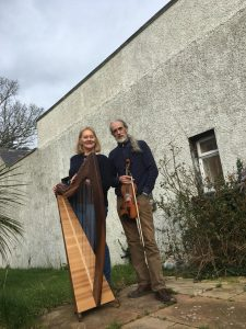 Fiddle and harp for Barakuba, Sat Nov 28th 2020